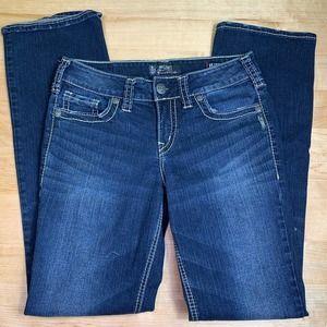 Silver SUKI fluid denim mid slim boot jeans size 29 L33 No flaws!
